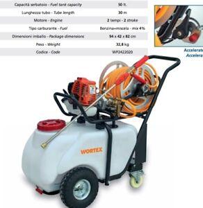 Bomba Pulverizadores WORTEX C50-T2 Escarda Motor 25,6cc Gasolina 2T 50L Carro