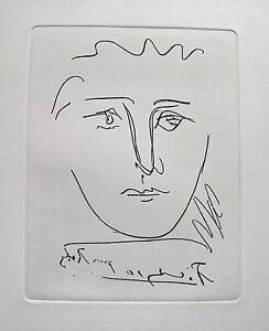Pablo-Picasso-POUR-ROBY-Etching-Signed-in-the-Plate-Comes-with-Certiticate
