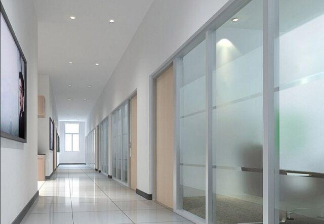 Satinierte Milchglasfolie Sichtschutz Bad, Küche usw 18 x 1.22 meter selbstklebe
