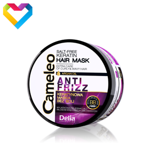 DELIA Cameleo анти вьющиеся волосы кератин для волос Маска кудрявые и волнистые волосы соль бесплатно 200 мл