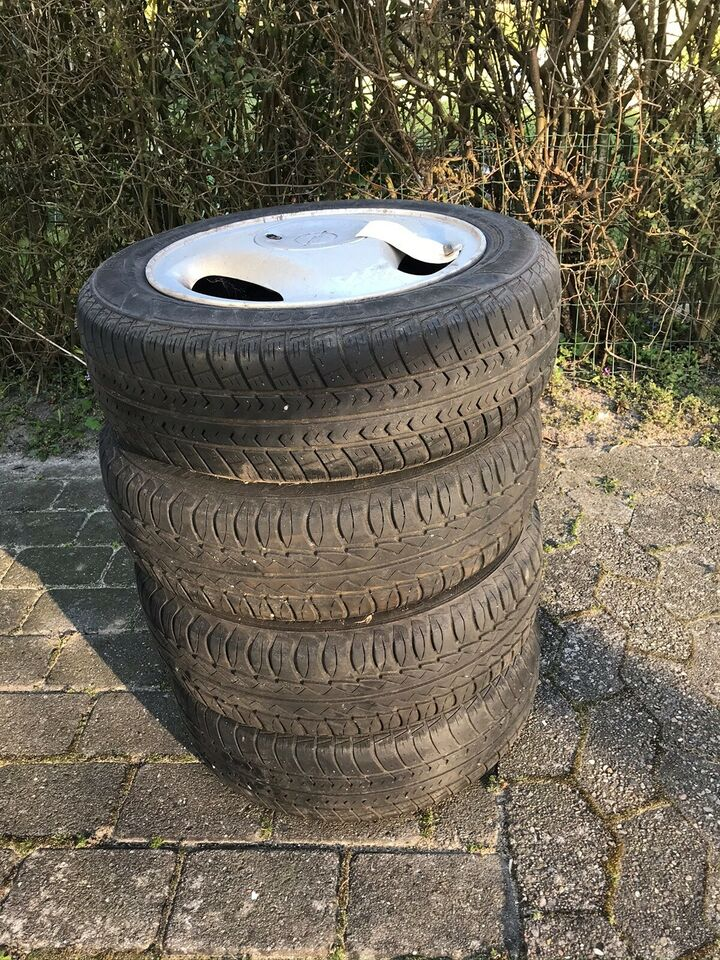 Stålfælge, 165 / 65 / R14, fælge med dæk