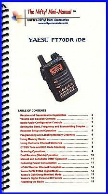 Yaesu FT-857 /& FT-857D Mini-Manual by Nifty Accessories