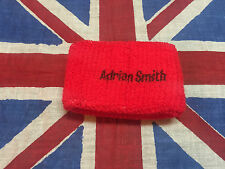 Iron Maiden Adrian Smith Genuine Wristband Sweatband Late 80's              lp
