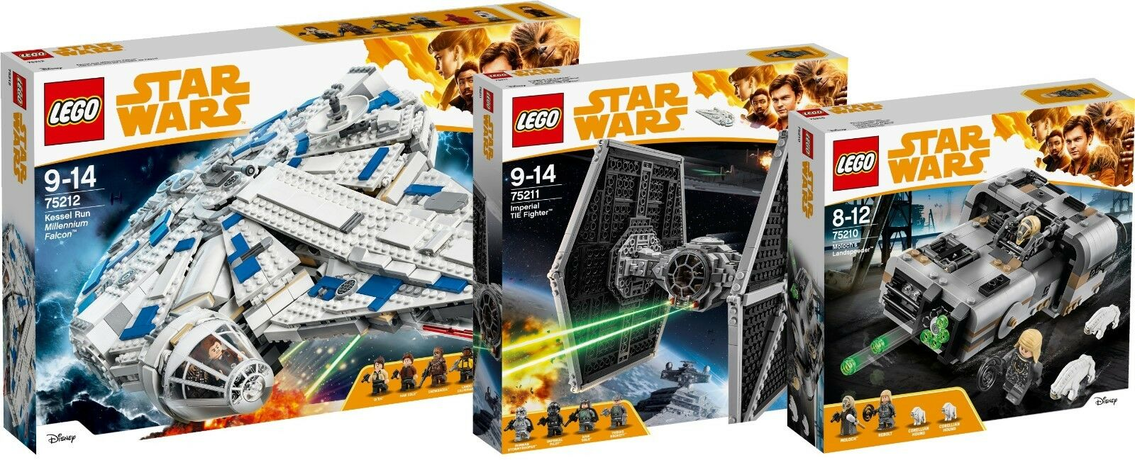 LEGO Star Wars Kessel Run Millennium Falcon 75212 75211 75210 TIE Fighter N5 18
