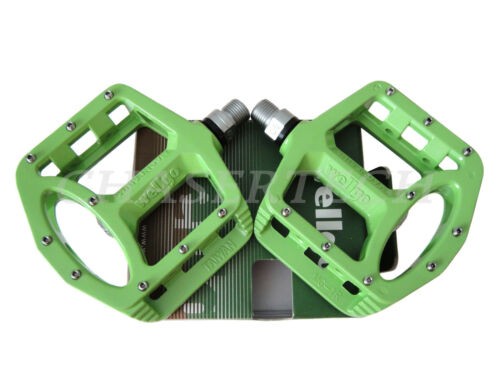 """New Wellgo MG-1 BMX Bicycle Bike Magnesium Pedals 9//16/"""" Lime Green"""