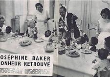 PUBLICITE ADVERTISING 064 1958 JOSEPHINE BAKER Bonheur retrouvé  4 pages