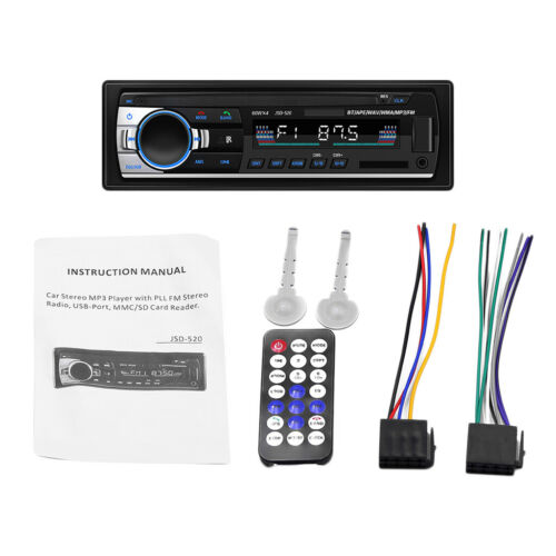 Bluetooth Autoradio Stereo Radio FM Aux