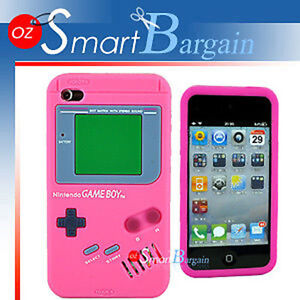 3D-Nintendo-GAME-BOY-PINK-SILICONE-SKIN-CASE-COVER-F-IPOD-TOUCH-4th-Gen-4G-SP