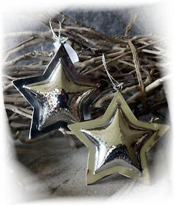 Lampe Stern Metall Antik Gold Weihnachten Shabby Vintage Landhaus Deko
