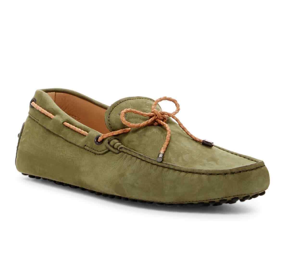 Tods Para hombre verde Gommino Conducción Zapatos