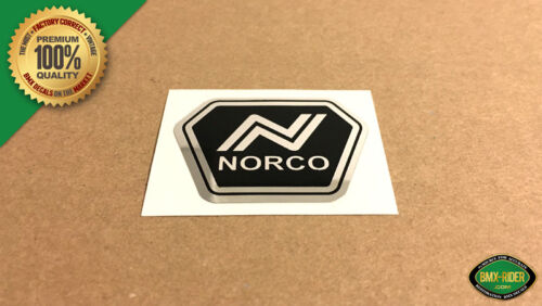 NORCO BMX Head Tube Badge Replacement Decal Sticker Chrome Spitfire Starfire