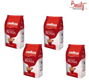 4 x Lavazza Qualita Rossa Coffee Beans - 1kg (Pack of 4)