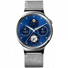 HUAWEI WATCH SILBER NETZARMBAND iOS ANDROID SMARTWATCH HANDYUHR FITNESSTRACKER