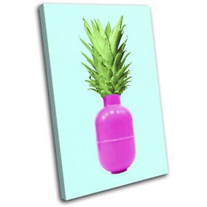 Pineapple-Bomb-Pop-Art-Food-Kitchen-SINGLE-CANVAS-WALL-ART-Picture-Print