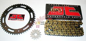 Yamaha WR125X Gold /& Black JT Heavy Duty O-Ring Chain /& JT Sprockets Kit Set