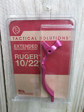 NEW Tactical Solutions Ruger 10/22 extended magazine release in PINK