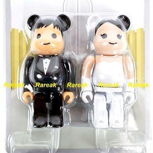 Medicom-Be-rbrick-2016-The-wedding-100-A-Groom-amp-Bride-2P-Bearbrick-set-2pcs