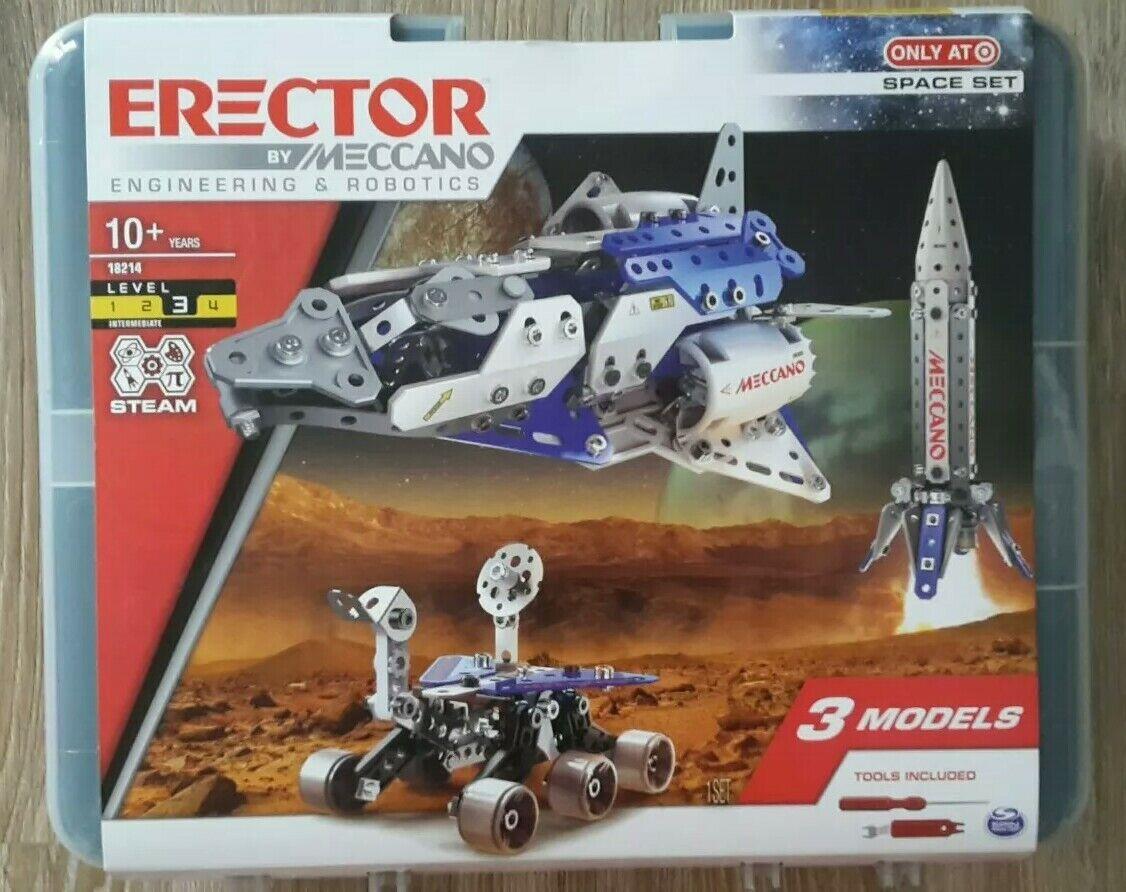 Metallbaukasten Erector By Meccano Engineering & Robotics Space Set Set Set 3 Models USA 3efbe1