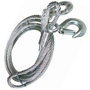 Heavy-Duty-Steel-Metal-Wire-Tow-Rope-Durable-Bar-Locking-Carabiner-Hook-Car-Van