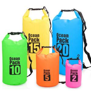 2-30L PVC Waterproof Dry Bag Sack for Canoe Floating Boating Kayaking Camping UK