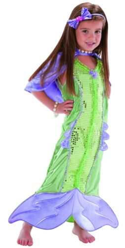 Mermaid Costume for Girls size 5-6 New by Teetot with Fin and Cape-Deluxe