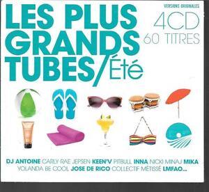 COFFRET-4-CD-COMPIL-60-TITRES-LES-PLUS-GRANDS-TUBES-ETE-INNA-MIKA-DE-RICO-LMFA