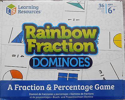 36 dominos Fraction dominos /& pourcentages Maths Jeux Âge 6yrs