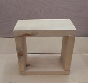 Image Is Loading Cube Side Table Coffee Bed Lamp Chunky Rustic