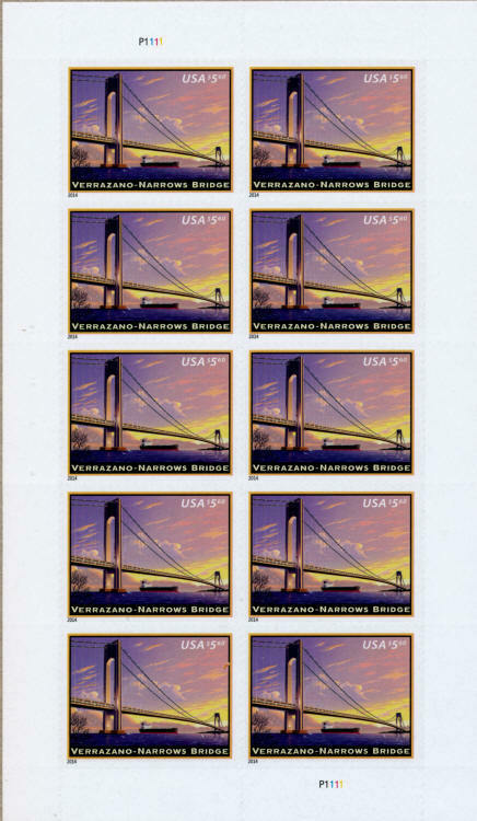 2014 $5.60 Verrazano-Narrows Bridge, Priority Mail, Min