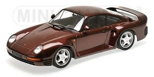 Porsche 959 Rouge Metal 1987 Minichamps 1/18