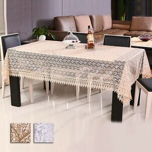 New tablecloth coffee table cloth organdy embroidered table cover home decor ebay Coffee table tablecloth