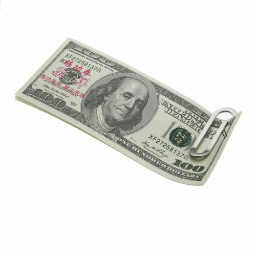 Large Paper Clip Money Holder Wallet Creative Big Size Clip STAINLESS STEEL