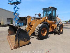 2013 Case 721F 4WD Wheel Loader Tractor Cab Q/C Auxiliary Hyd Diesel 4X4 bidadoo