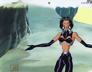 AEON-FLUX-Original-Production-Cel-Cell-Animation-Art-MTV-Liquid-TV-90-039-s-Arms-Out