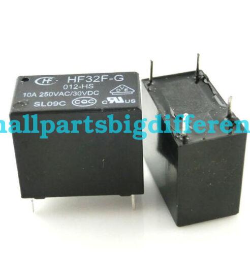 20//50//100pcs HF32F-G-012-HS New Genuine 4Pins Relay 12V JZC-32F Wholesale