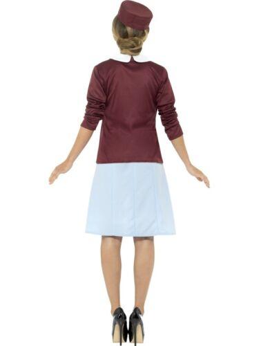 Da Donna Vintage Costume Infermiera Anni /'40 WW2 Vestito Smiffys Nuovo