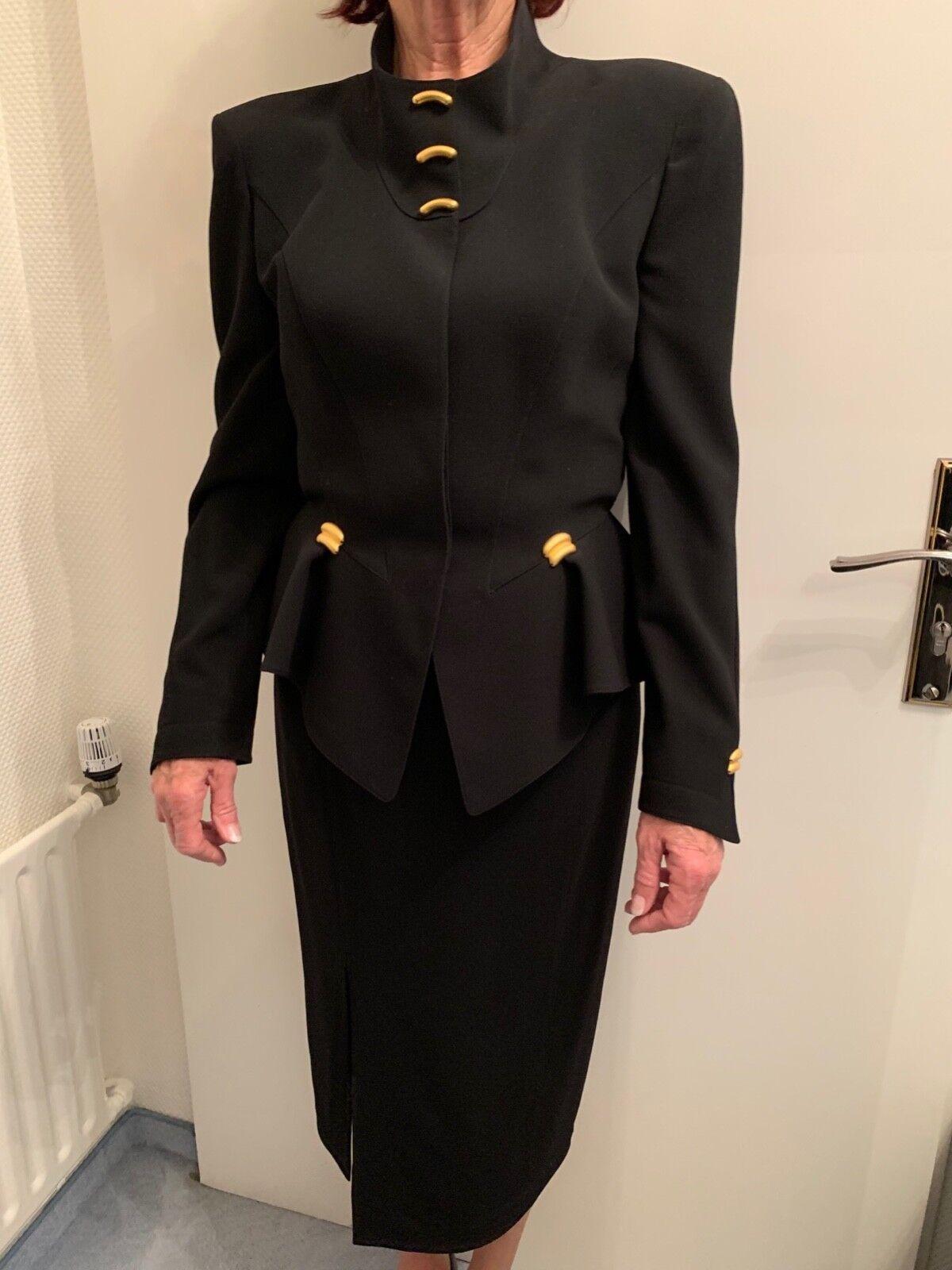 Thierry Mugler Premium Kostüm, schwarz Gr. Gr. Gr. F 40  D 36 | Verschiedene Stile und Stile  | Lass unsere Waren in die Welt gehen  | Moderate Kosten  | Am praktischsten  | Ausgang  dd808b