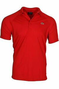Lacoste-Men-039-s-SPORT-Technical-Pique-Tennis-Polo-Ultra-Dry-DH9631-51-Red-240