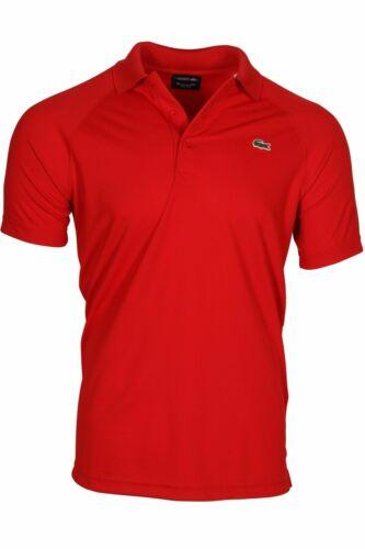 240 Lacoste Men/'s SPORT Technical Piqué Tennis Polo Ultra Dry DH9631-51 Red