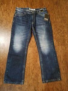 New-Machine-Blue-Denim-Jeans-Men-039-s-Size-38-34-Machine-Wash-NWT-BOOT-CUT