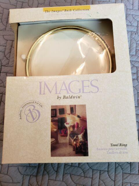 3704-030 BALDWIN EDINBURGH Towel Ring Polished Solid Brass Discontinued Nice!!
