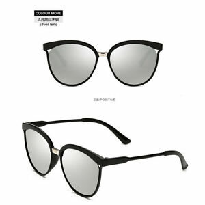Women-s-Vintage-Mirror-Designer-Flat-Lens-Sunglasses-Silver-Eye-Glasses-Eyewear