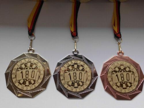 Pokale & Preise e103 Dartscheibe Pokal Kids Medaillen 70mm 3er Set mit Deutschland-Band Emblem