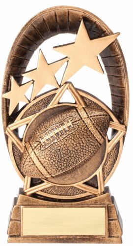 NEW FOOTBALL TROPHY RESIN AWARD FREE LETTERING MRF1506B