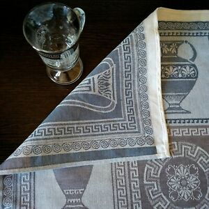 Details about Linen towel for the kitchen  Double-sided jacquard weaving in  Greek style