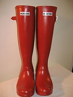 Hunter Original Tall Rojo Damas Botas de agua UK Tamaños 3-8