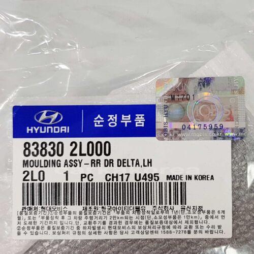 Genuine 838302L000 Rear Door Delta Left LH For HYUNDAI i30 2008-2011