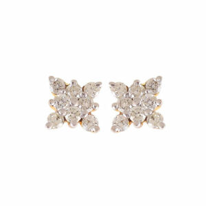 Pave-0-51-Cts-Natural-Diamonds-Stud-Earrings-In-Fine-Certified-18K-Yellow-Gold