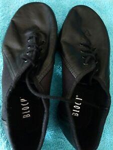 Jazz Essential Dance Uk Chaussures Bloch nero riempie Black 12 xa1wwqEt