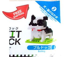 Image is loading DAISO-JAPAN-PETIT-BLOCK-Bulldog-Free-shipping-with-